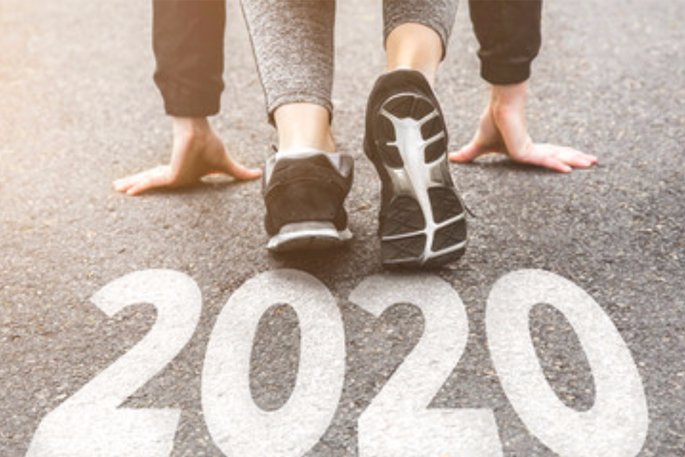 A starting line image encouraging someone to start an online business in 2020